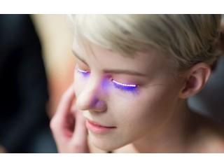 Мода будущего: интерактивные светодиодные ресницы f.lashes